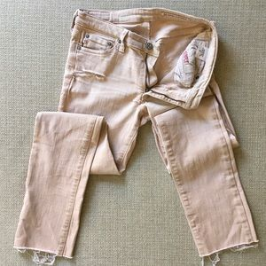 AG Premiere skinny straight SAMPLE dusty rose jean